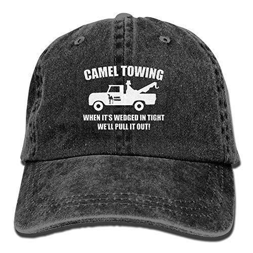 mor Washed Retro Adjustable Denim Hat Gym Caps for Male Female ()