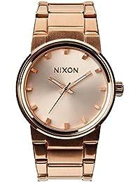 Nixon 0 - Reloj de cuarzo para hombre, con correa de acero inoxidable, color