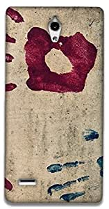 The Racoon Lean HANDPRINT hard plastic printed back case / cover for Huawei Ascend G700