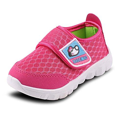 Putu Baby Sneaker Klettverschluss Sommer Outdoor Sandalen Atmungsaktiv Leicht Mesh Lauflernschuhe Jungen Mädchen Rot 19