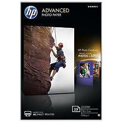 HP - Q8691A - Advanced Photo Paper glace Papier jet d'encre Photo 250g 10 x 15 cm