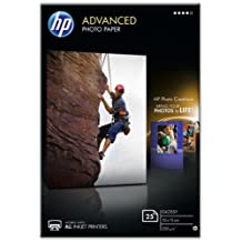 HP Advanced Q8691A - Papel fotográfico satinado (25 Hojas, 15 x 10 cm)