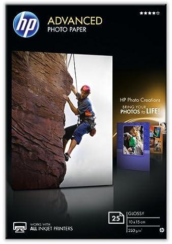 HP Q8691A Advanced Glossy Fotopapier 250g/m² 10x15cm 25 Blatt, weiß