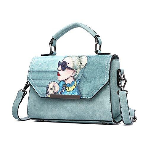Pacchetto di estate selvaggio di modo selvaggio, versione coreana della borsa delle maree, zaino obliquo della spalla ( Colore : Grigio ) Water Blue
