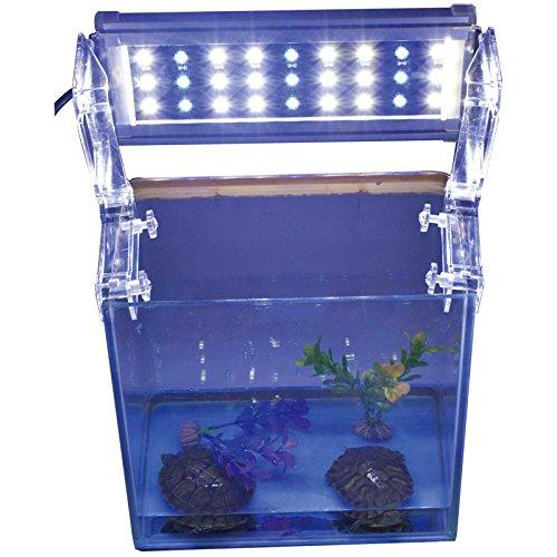 Aquarium Eco LED Beleuchtung Mini Aquarium Aufsetzleuchte Fisch Tank Meerwasser Süßwasser Lampe Abdeckung Leuchte 27-43cm A117 -