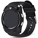XHZNDZ Smart Watch, Bluetooth Smartwatch Touchscreen Armbanduhr mit Kamera / SIM-Karte, wasserdichtes Telefon Smart Watch Sport Fitness Tracker für Android IPhone IOS Handys Huawei für Kinder Frauen Männer