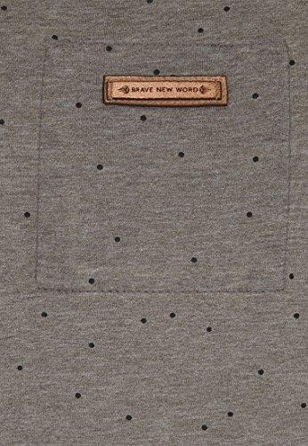 Naketano Male Sweatshirt Stuck On Pussy III Heritage Dark Grey Melange
