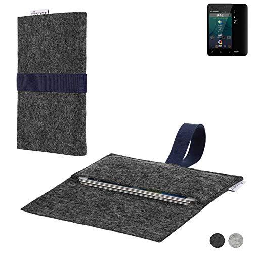 flat.design Handy Hülle Aveiro für Allview P42 passgenaue Filz Tasche Case Sleeve Made in Germany