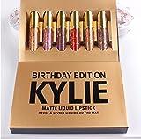 Kit de 6Pintalabios opacos, similar al kit Birthday de Kylie Jenner (Mini Juego), 100% original, 0,65ml, Exposed, Koko K, Dolce K, Candy K, Kristen, Leo-
