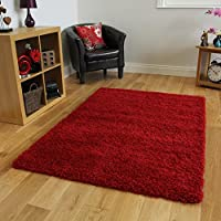 "SOFT THICK LUXURY WINE SHAGGY RUG 9 SIZES AVAILABLE 60cmx110cm (2ft x 3ft7"") by The Rug House"