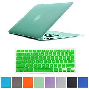 """Generic Coque rigide mate pour Macbook Air A1370 et A1466 sans le logo d'Apple Vert 13"""" 13,3"""""""
