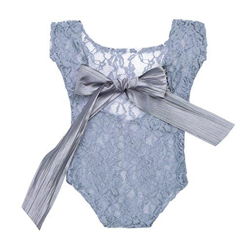 YOOJIA Neugeborene Mädchen Strampler Spielanzug Baby Fotografie Requisiten Props Babyfotografie kostüm Babykleidung Mädchen Fotoshooting Outfit 0-3 Monate Grau One_Size (Newborn Kostüme 0 3 Monate)
