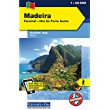 Madeira Outdoorkarte 1 : 40.000: Funchal-Porto Santo. Wanderwege, Radwanderwege, Nordic Walking: Funchal - Ilha do Porto Santo. Wanderkarte (Kümmerly+Frey Outdoorkarte International)