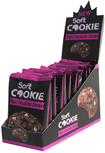 12 x Soft COOKIE Triple Chocolate Chunks