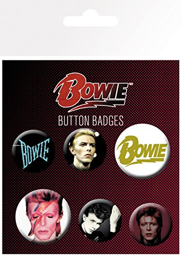 David Button (GB Eye David Bowie, Mix Badge Pack, Aluminium, Mehrfarbig, 14 x 0,3 x 10 cm)