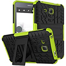 """Galaxy Tab A6 7.0 puladas Carcasa, KATUMO® Funda de Piel Silicona Gel Carcasa Goma para Tablet Samsung Galaxy Tab A6 7.0""""(SM-T280/285) Funda Dura Protectora Transparent Cubierta-Verde"""