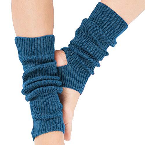 Vellette Damen Bein Stulpen warme Beinstulpen Strick-Stulpe Beinwarmer Stulpen Legwarmer Grobstrickstulpen Winter Lange WarmeSocken 1 Paar (Bein-stulpen)