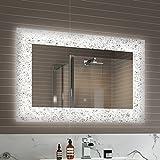 Soak Eleganter LED-Badspiegel mit Lichtsensor - Design-Lichtspiegel für das Badezimmer - 90 x 60...