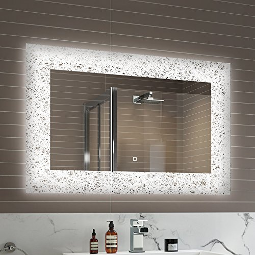 Lighted Bathroom Wall Mirror Large: Large Mirror With Lights: Amazon.co.uk