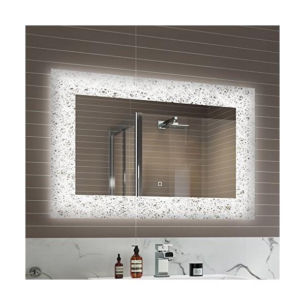 900 x 600 mm Designer Illuminated LED Bathroom Mirror Light Sensor + Demister ML7001 51VnZhxVRuL