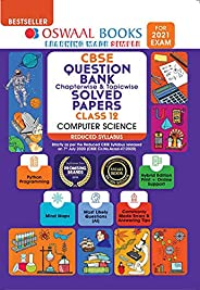 Oswaal CBSE Question Bank Class 12 Computer Science Chapterwise & Topicwise Solved Papers (Reduced Syllabu
