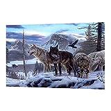 MagiDeal DIY 5D Malerei Diamant Stickerei Strass Rhinestone Kit Größe 30 x 40 cm aus Harz Strass - Wolf