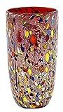 VASO CONICO ARLECCHINO Vase Glas Blattgold Murrine Made Italy Venedig Murano