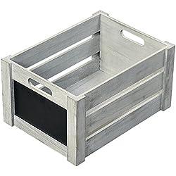 Relax XFair caja de almacenamiento Caja de madera FSC de madera cajas de fruta/de almacenamiento de pequeño Vintage marrón varios tamaños, 40,5 x 30,5 x 20 cm