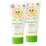 Babyganics Mineral-Based Sunscreen SPF 50 12 count of .25oz On-The-Go tubes (Pack of 2) Packaging May Vary