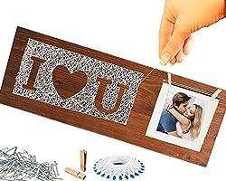 BASTELARTIKEL LIEBE mit Namen ❤️ ICH LIEBE DICH Geschenke für Sie / Ihn Frauen Männer Paare Frau Mann Jungs Mädchen Jahrestag ❤️ unendlich Geschenk DEKO holz Liebe mit Foto zum hängen