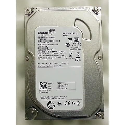 Dell 1FX4K - Disco duro interno de 320GB para Dell Studio XPS 7100, Alienware, Inspiron, Inspiron One, Precision Vostro, XPS One, Dimension y OptiPlex (7200rpm, factor de forma de 3,5