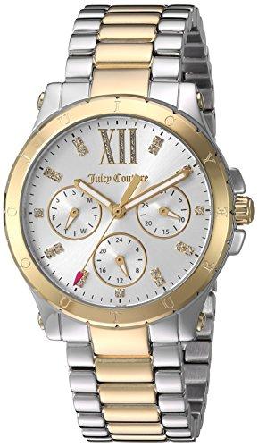 Juicy Couture da donna 'Hollywood' quarzo argento e oro e acciaio orologio casual, colore: due tonalità (Model: 1901591)