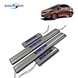 #5: Kingsway Premium Quality Door Led Step Sill Scuff Plates for Tata Tigor (Steel, Set of 4)