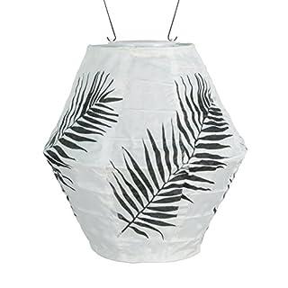 Allsop Home & Garden 31860 Soji Canvas Black Palm Solar Lantern