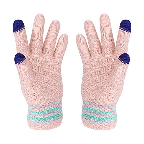 VENI MASEE Kerstmis Lover Snowprint Keep Warm Iphone Touch Screen handschoenen - 60 Kleine Tabletten