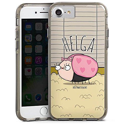 Apple iPhone X Silikon Hülle Case Schutzhülle DirtyWhitePaint Fanartikel Merchandise Helga Bumper Case transparent grau