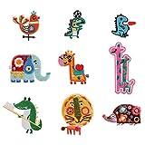 Smart Ritz Cartoon Stickers/Stickerei/Stickerei/DIY Nähen/Handarbeiten/Kleidung Dekorative Stoff-Aufkleber, 10