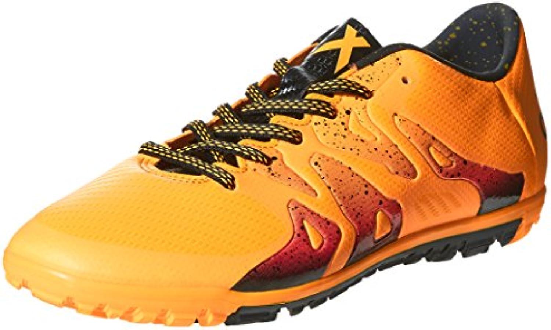 Adidas X 15.3 TF, Botas de Fútbol para Hombre, Naranja/Negro/Rosa (Dorsol/Negbas/Rosimp), 44 2/3 EU
