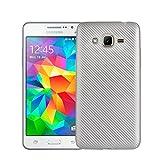 QiongniAN Hülle für Samsung SM-G531F Galaxy Grand Prime Value Edition Duos Hülle TPU Soft Schutzhülle Case Cover Silver