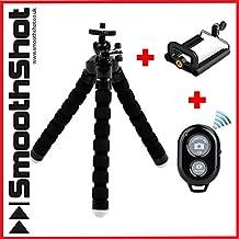 Flexible trípode pulpo agarre soporte soporte soporte de Bluetooth para Smartphone, iPhone, Samsung