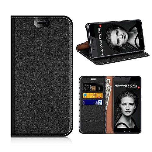 MOBESV Custodia in Pelle Huawei P10 Plus, Custodia Huawei P10Plus Cover Libro/Portafoglio Porta per Cellulare Huawei P10 Plus - Nero