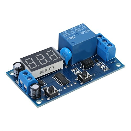 DC 12V Infinite Cycle Delay Unendliche Umlaufen Timer Relais Schalter Loop Switch Modul mit LED Display -