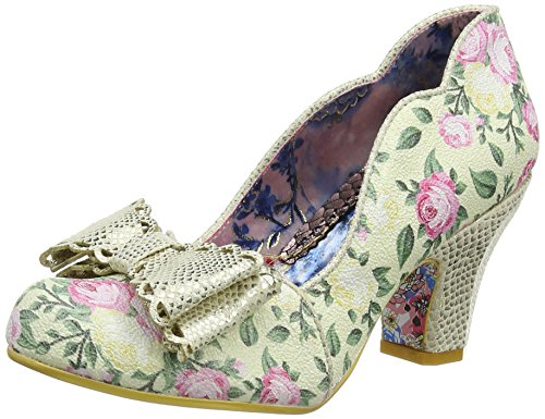 Irregular Choice Damen Deco Dreams Pumps, Off-White (Cream Floral), 36 EU