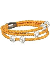sweet deluxe Damen-Armband rhodiniert Glas 19 cm - 4451