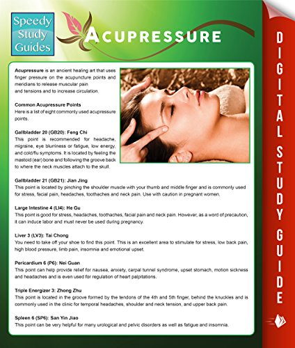 Acupressure (Speedy Study Guides) (Acupressure Points Guide) (English Edition)