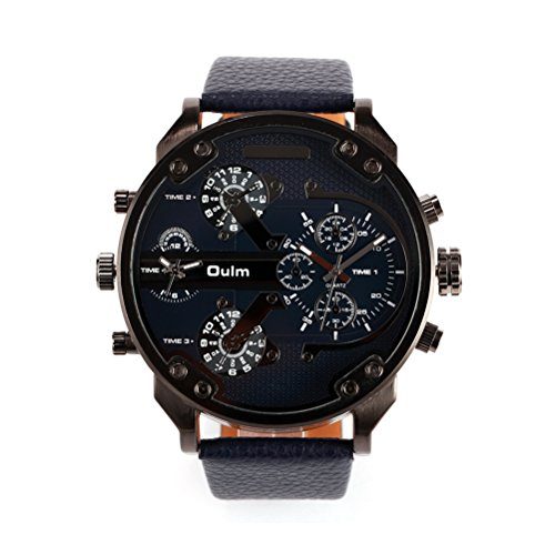 pixnor-uomini-ragazzi-di-quattro-time-display-al-quarzo-orologio-da-polso-con-pu-band-nero