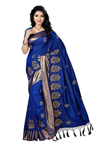 Rani Saahiba Art Silk Embroidered Saree (SKR3633_Blue)