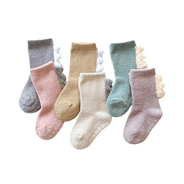 ZOOMY Baby Kids Calcetines Otoño e Invierno Coral Velvet Thickening Cartoon Sock - S 1