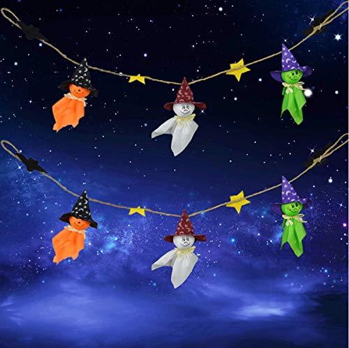 (Homk101 Halloween Festival Ghost String Flaggen Halloween Hängende Ornamente Anhänger Dekore Photobooth Requisiten Drop Shipping)