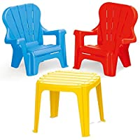 Dolu Set Of Colourful Childrens Garden Chairs & Table